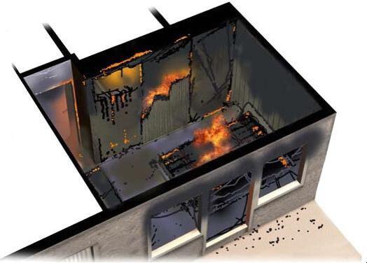 simulator incendiu